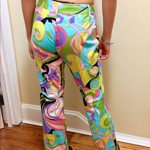 Vintage psychedelic print pants sz 2-4